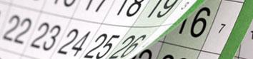 Calendario de reportes de compañías