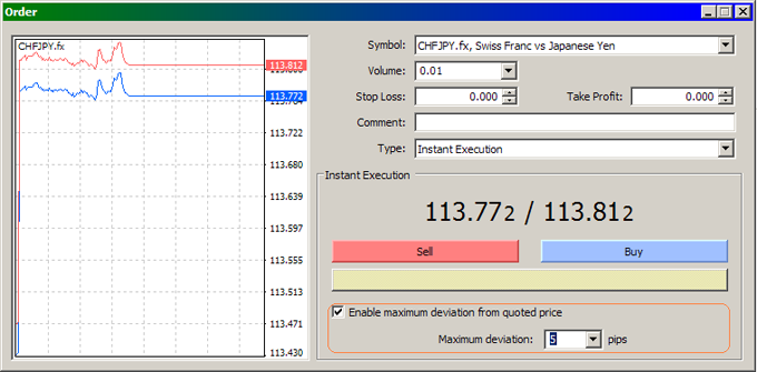 MetaTrader 4 - How to avoid a requote